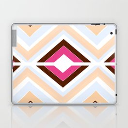 Mod stripes in raspberry Laptop & iPad Skin