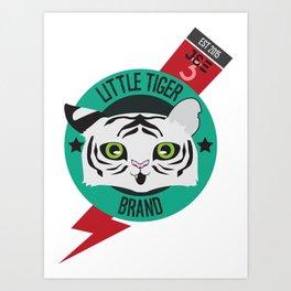 Little Tiger Brand Logo Art Print
