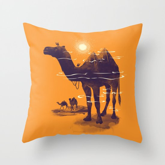 Walking Pyramid Throw Pillow