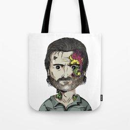 Rick Grimes The Walking Dead zombie portrait Tote Bag