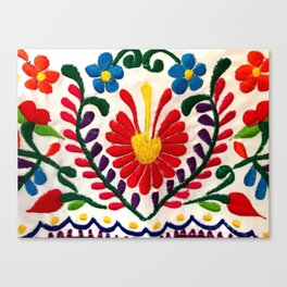Red Mexican Flower Canvas Print