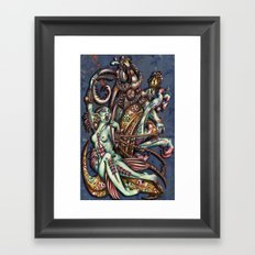 Mentalice and the White Rabbit Framed Art Print