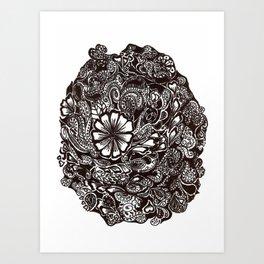 Henna Design 4 Art Print