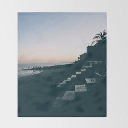 Sun Set Silhouette Throw Blanket