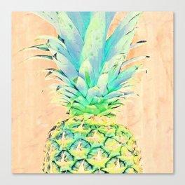 Pastel Pineapple Canvas Print