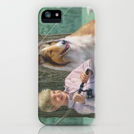 Timmy and Lassie iPhone Case
