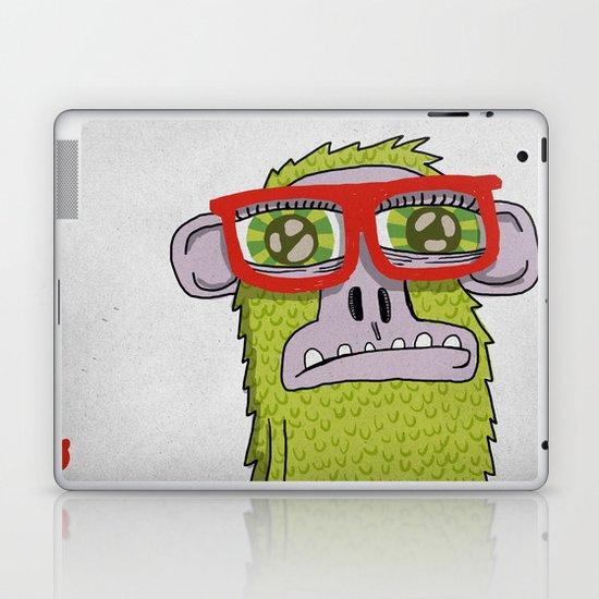 005_monkey glasses Laptop & iPad Skin