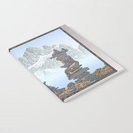 STONE KIRNS AND MOUNTAIN PEN DRAWING Notebook