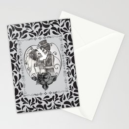 Skeleton Couple Marriage Dance Stationery Cards