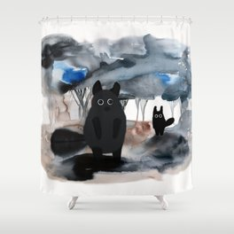 forest creatures Shower Curtain