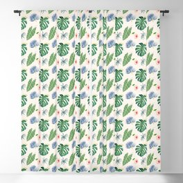 Tropical Blue Blackout Curtain