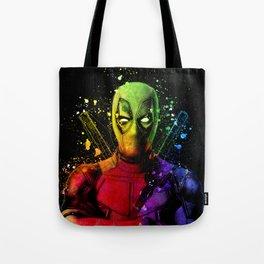 DeadPool2 Comic Book Movie Graffiti Style Abstract Painting - Ryan Reynolds Tote Bag