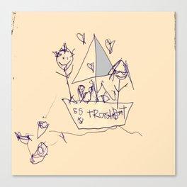 S.S. Trash Boat Canvas Print