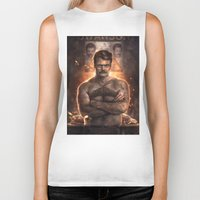 ron swanson Biker Tanks featuring Ron ****ing Swanson by Sam Spratt