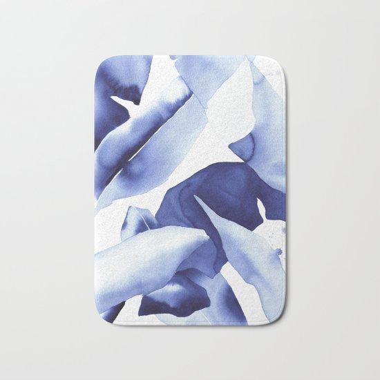Royal Blue Palms no.1 Bath Mat