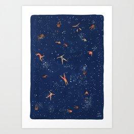 Sky Swim Art Print