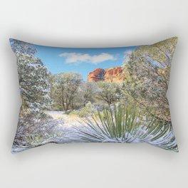 Sedona Winter  by Reay of Light Rectangular Pillow