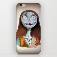 nightmare before christmas iPhone & iPod Skins featuring Sally from nightmare before Christmas by Melissa Rodriguez