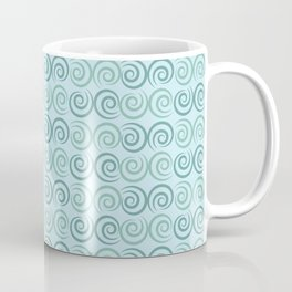 Blue Swirls Pattern Coffee Mug