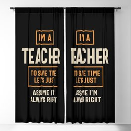 I'm a Teacher Job Title Gift Blackout Curtain