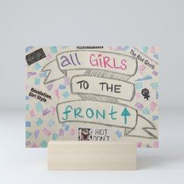 all girls to the front Mini Art Print