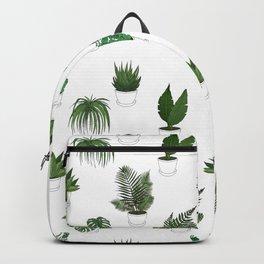 Houseplants Illustration (white background) Backpack
