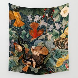 Birds and snakes Wall Tapestry