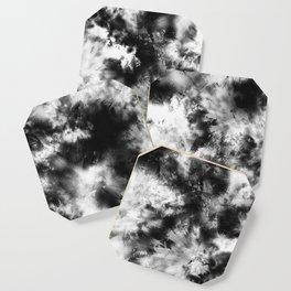 Black and White Tie Dye & Batik Coaster