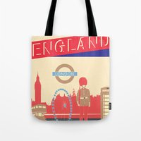 london Tote Bags featuring LONDON by famenxt
