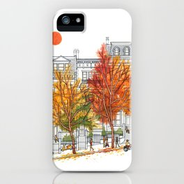 Autumn Cityscape iPhone Case