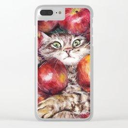 Apple Cat Clear iPhone Case