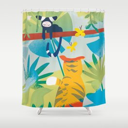 The Tyger Part 1 Shower Curtain