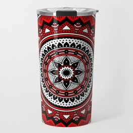 Red and Black Mandala Travel Mug