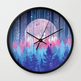 Rainy forest Wall Clock
