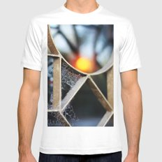 The fence, the spiderweb and the sun MEDIUM White Mens Fitted Tee