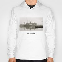 baltimore Hoodies featuring baltimore harbor by Art by Ash