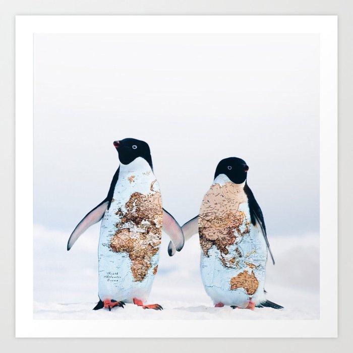 Travel Penguins Kunstdrucke