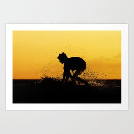Surfing Costa Rica (180220-7342) Art Print