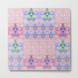 Abstract triangles. Patchwork pattern. Metal Print