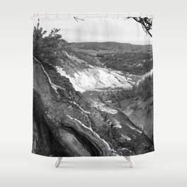 Yellowstone River At Lava Creek Shower Curtain