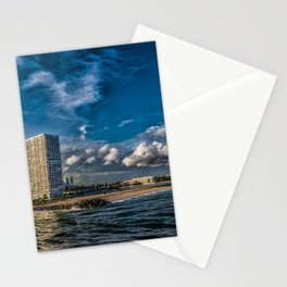 Modern Condos on Fort Lauderdale Beach Stationery Cards