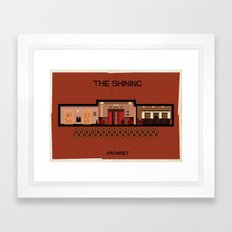 The shining_ Directed by Stanley Kubrick Framed Art Print