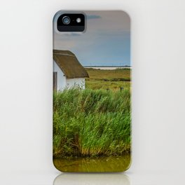 Romantic tranquil and peaceful dusk sea view with small house in Spain iPhone Case