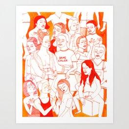 Dame Calor Art Print
