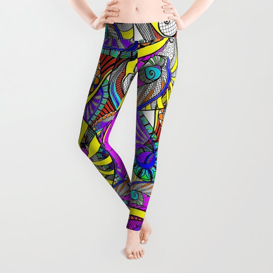 crazy zentangle Leggings
