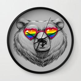 Pride Heart Wall Clock
