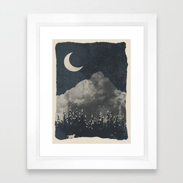 Winter Finds the Wolf... Framed Art Print