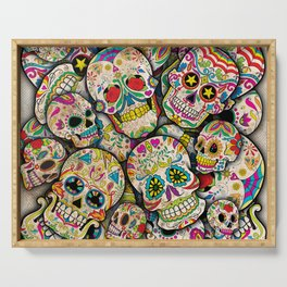 Sugar Skull Collage Serving Tray