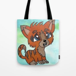 Tiger Kitten Tote Bag
