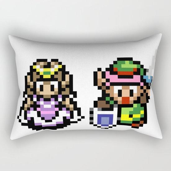Zelda and Link Rectangular Pillow
